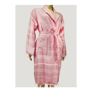 Růžový dámský župan Hammam Clasic Style cm