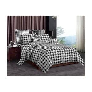 Lenjerie pentru pat de o persoană, din microfibră, DecoKing Houndstooth, 135 x 200 cm
