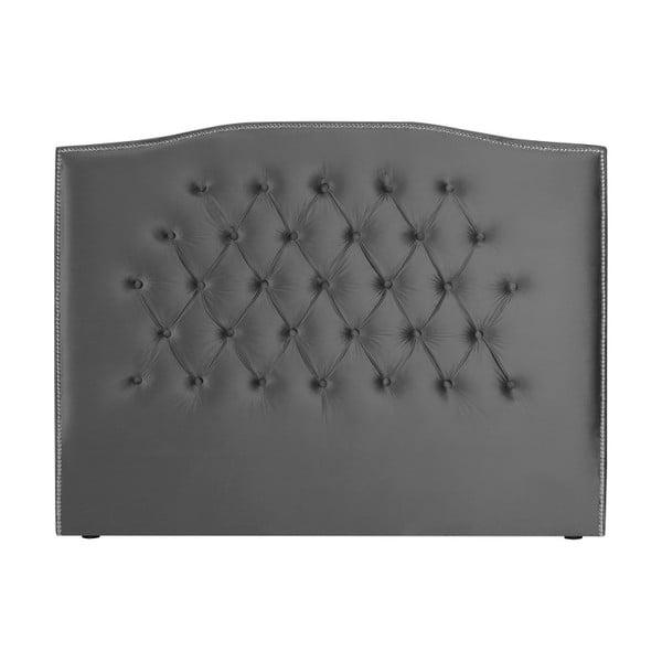 Stříbrno-šedé čelo postele Mazzini Sofas, 140 x 120 cm