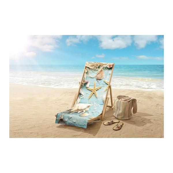 Plážová osuška s potiskem Good Morning Beachlife, 100 x 180 cm