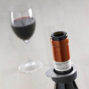 Sada 2 kroužků na láhev od vína Steel Function
