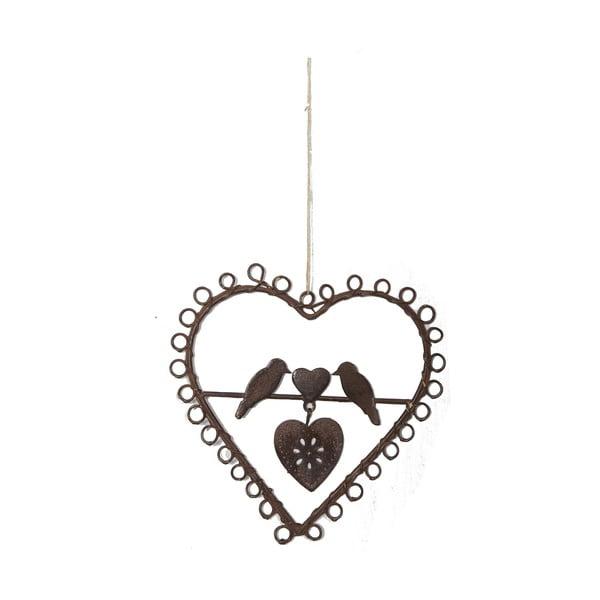 Závěsné dekorativní srdce s ptáčky