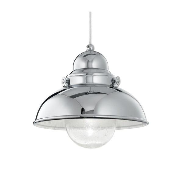 Závěsné světlo Evergreen Lights Crido Loft Chrome, 29 cm