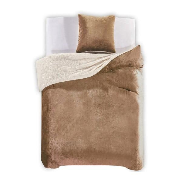 Lenjerie de pat din microfibră DecoKing Teddy, 135 x 200 cm, bej