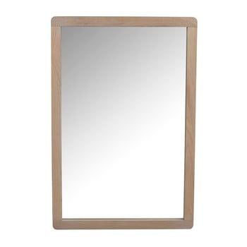 Oglindă cu ramă din lemn de stejar Rowico Gorgona, culoare deschisă de la Rowico