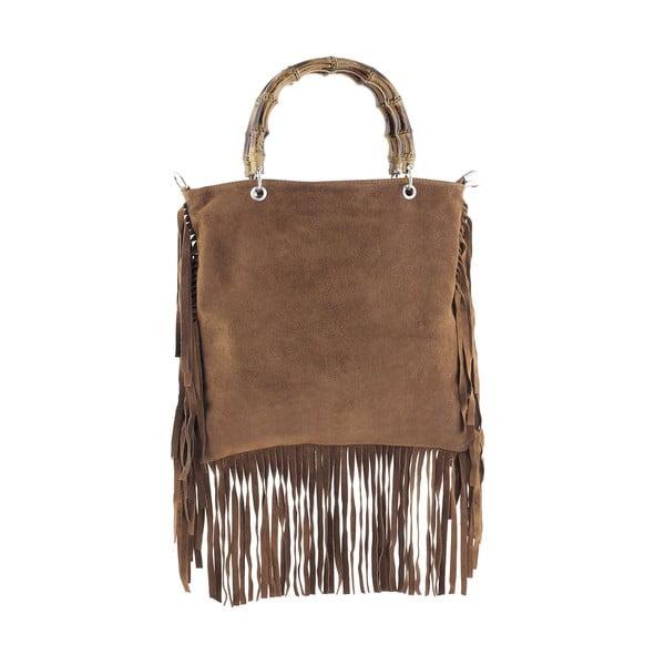 Kožená kabelka Messie Brown