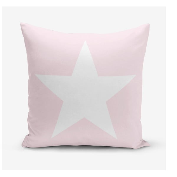 Față de pernă Minimalist Cushion Covers Star Pink, 45 x 45 cm