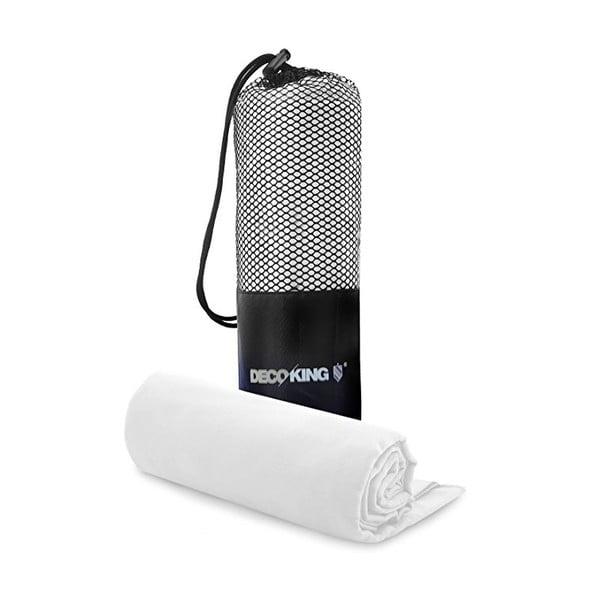 Set bielej rýchloschnúcej osušky a uteráku DecoKing EKEA, 70 x 140 cm + 30 x 50 cm