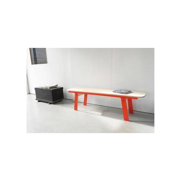 Oranžová lavice na sezení rform Slim 01, délka 165 cm