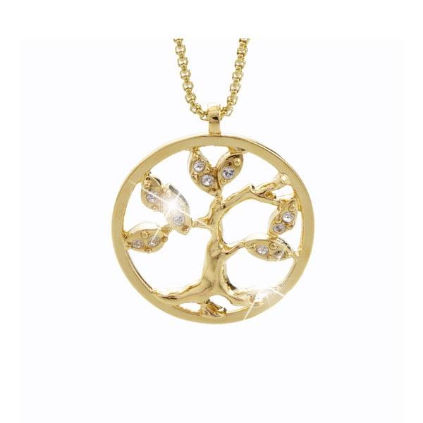 Tree of Life aranyszínű nyaklánc Swarovski Elements kristályokkal - Laura Bruni