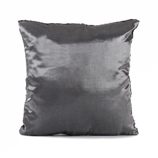 Flitrovaný polštář Shiny Black, 43x43 cm