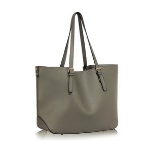 Geantă L&S Bags Shopper, gri
