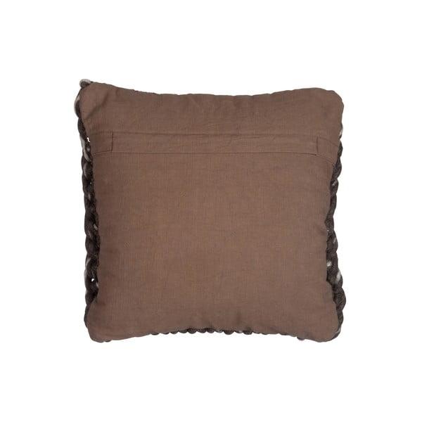 Polštář J-Line Brown Cotton, 45x45 cm