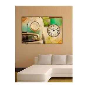 Obraz s hodinami Retro, 60x40 cm