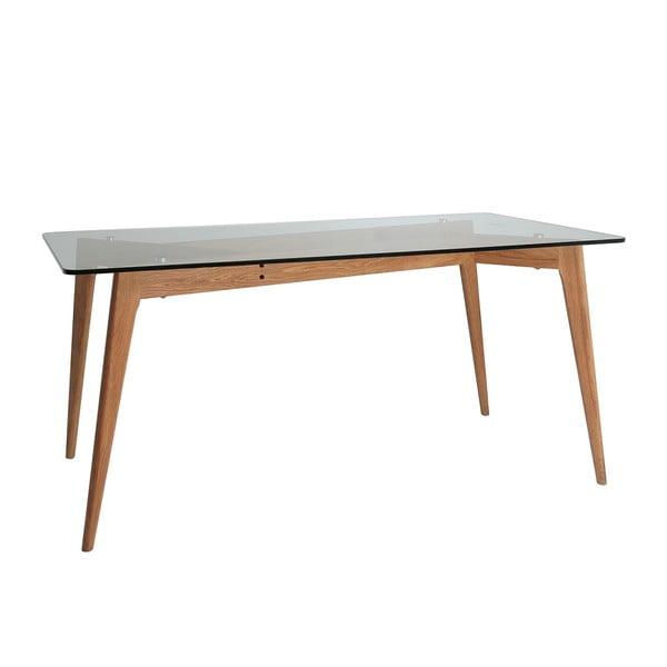 Jídelní stůl s hnědýma nohama Marckeric Janis, 160 x 90 cm