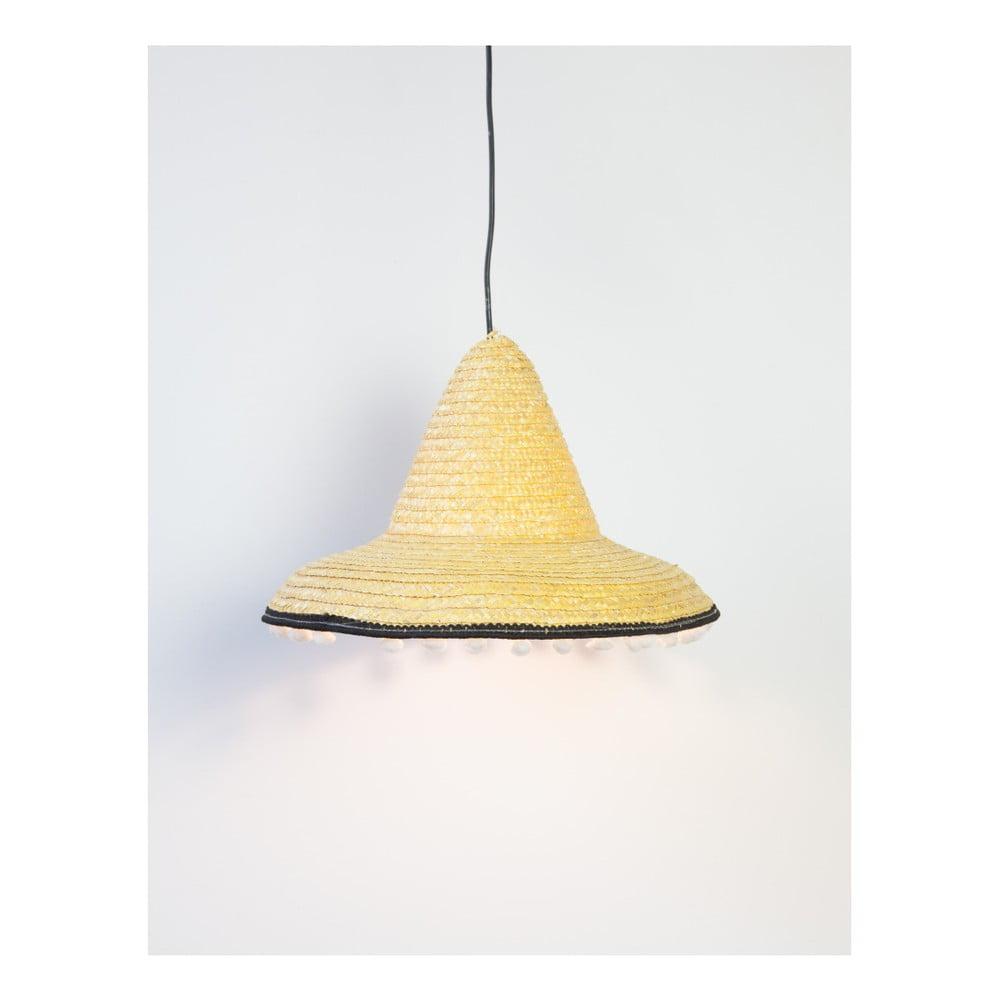 Žluté závěsné svítidlo Surdic Mexican, Ø 55 cm