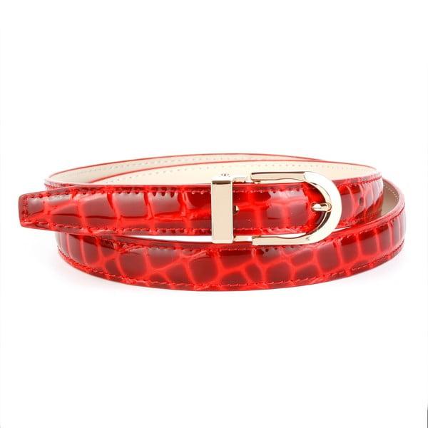 Dámský kožený pásek 434R Red, 80 cm