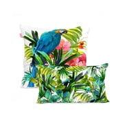 Sada 2 bavlněných povlaků na polštář Happy Friday Blue Macaw