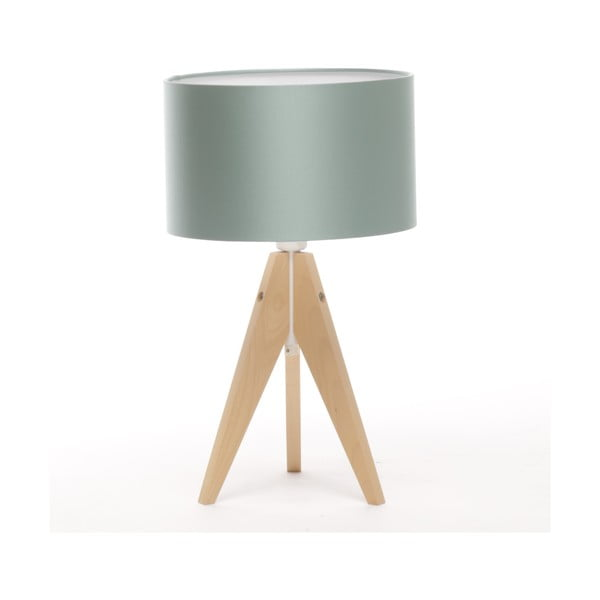 Stolní lampa Artista Birch/Light Green, 28 cm