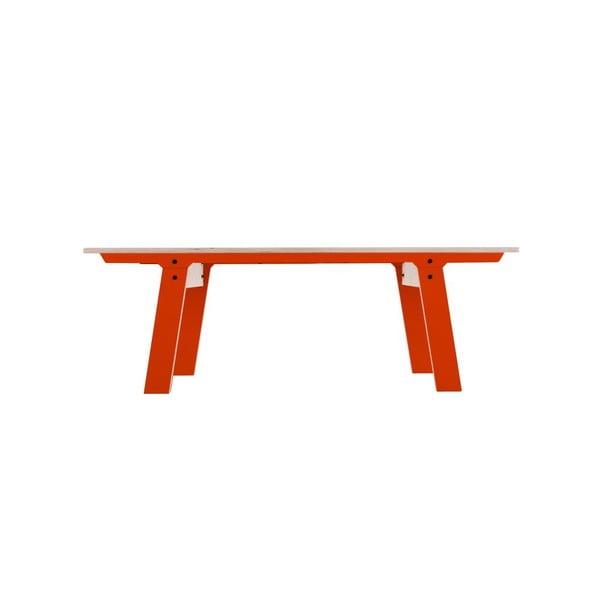 Oranžová lavice na sezení rform Slim 01, délka 133 cm