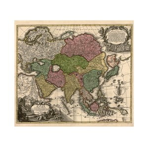 Fotoobraz Asie 17. století, 90x80 cm