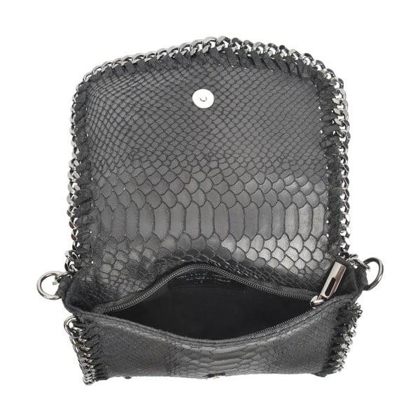 Černá kožená kabelka Luisa Vannini Casia