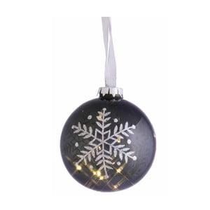 Svítící koule Snow Grey, 10 cm