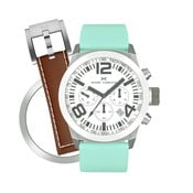 Dámské hodinky Marc Coblen s páskem a kroužkem navíc P76
