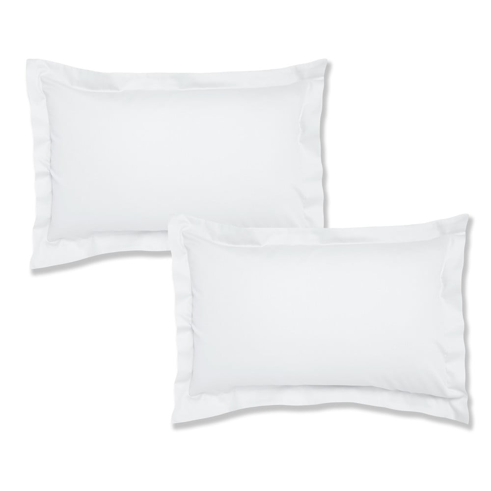 Sada 2 bílých bavlněných povlaků na polštář Bianca Oxford, 50 x 75 cm