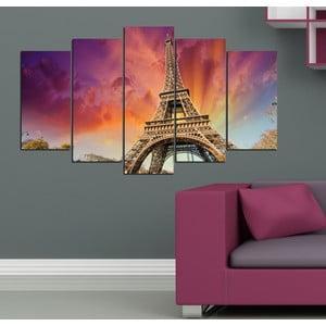 5dílný obraz Pod Eiffelovkou