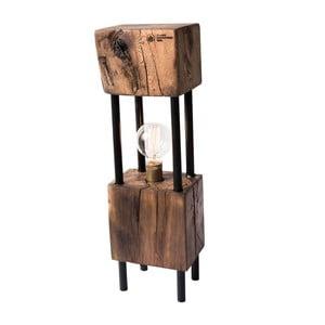 Stolní lampa z rekultivovaného dubového dřeva FLAME furniture Inc. Monolit