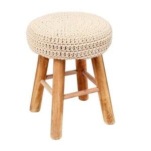 Stolička s pleteným sedátkem In Cream