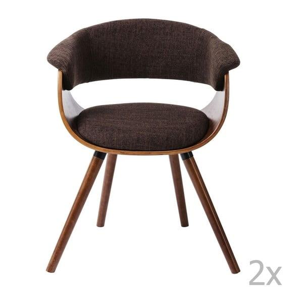 Sada 2 jedálenských stoličiek s podnožou z bukového dreva Kare Design Monaco