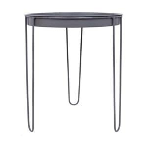Šedý kovový zahradní stolek Ewax Skinny, ⌀39,5cm