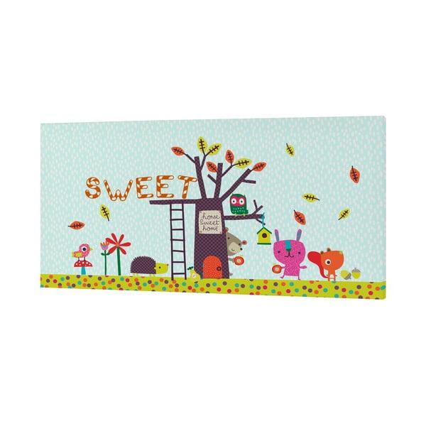 Nástěnný obrázek Sweet Home, 27x54 cm