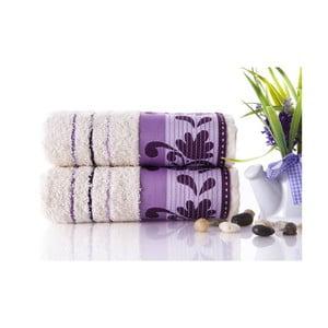 Set dvou ručníků Melodi Purple, 50x90 cm