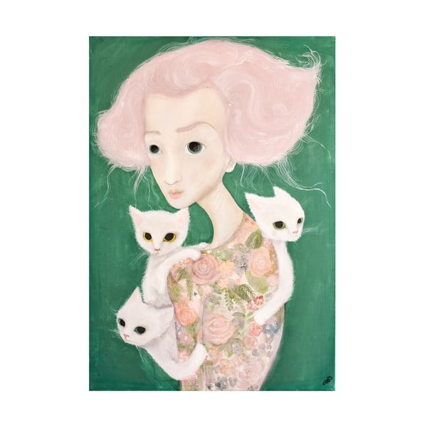 Autorský plakát od Lény Brauner Slečna s malvíny, 44x60cm