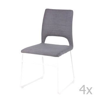 Set 4 scaune sømcasa Nessa, gri de la sømcasa