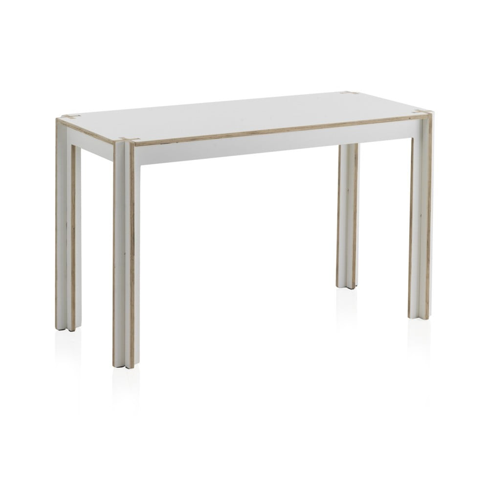 Bílý dětský stůl z překližky Geese, 110 x 50 cm