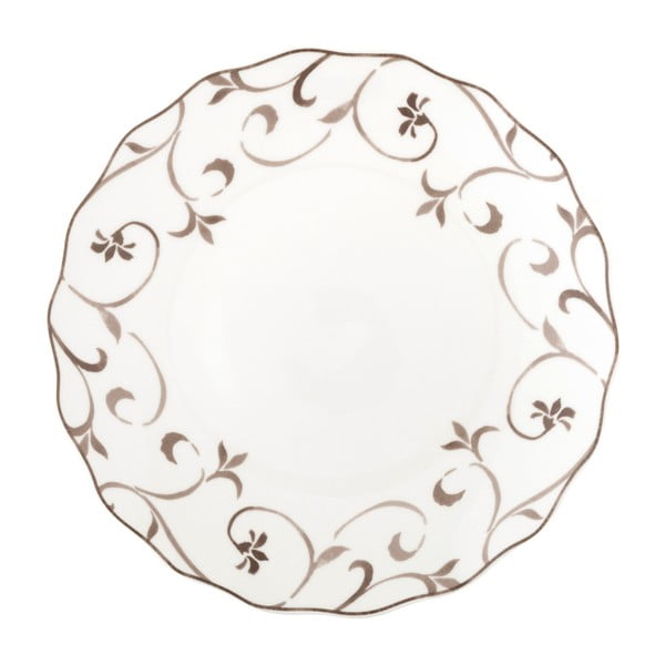 Talerz z porcelany kostnej Brandani Ricciolo Di Dama, ⌀ 27 cm