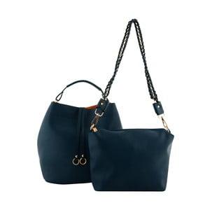 Modrá kožená kabelka Kris Ana Blue