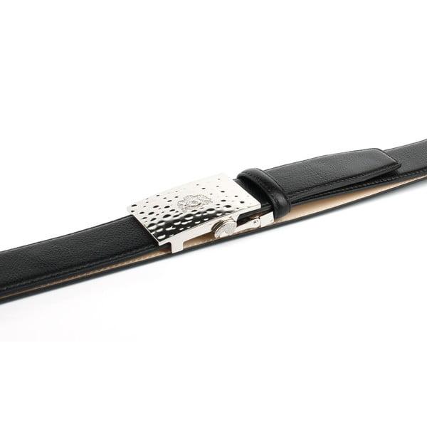 Pánský kožený pásek 12T10S Black, 90 cm