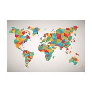 Tablou Homemania Maps World Puzzle, 70 x 100 cm