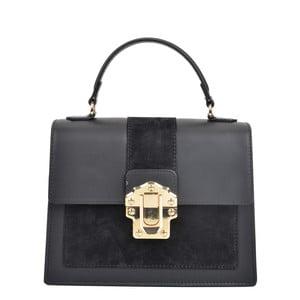 Černá kožená kabelka Isabella Rhea Angelo