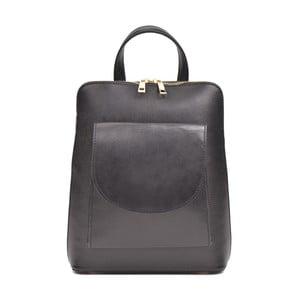 Černý dámský kožený batoh Anna Luchini Mirago