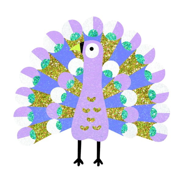 """Set creativ de colorat cu nisip pentru copii Djeco """"Păsări"""""""