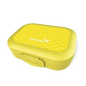 Svačinový  box Amuse, žlutý