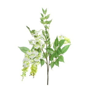 Umělá květina s bílými květy Ixia Beancurd, výška93cm