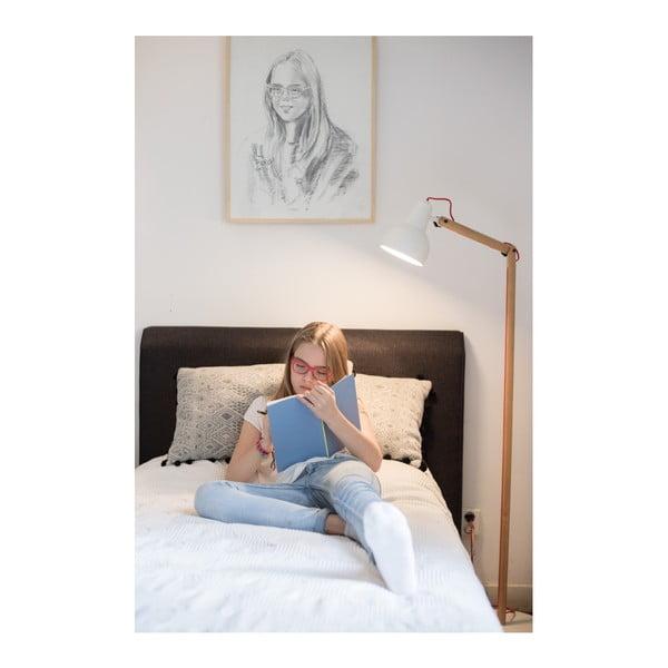 Bílá stojací lampa Zuiver Study