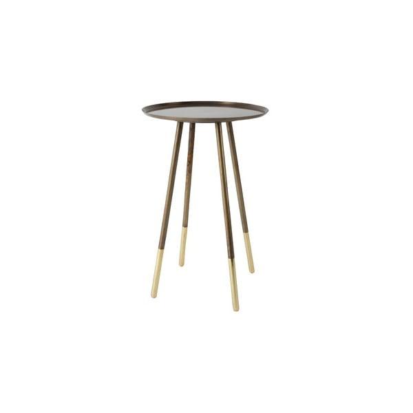 Mosazný odkládací stolek Dutchbone Eliot, ⌀ 37 cm